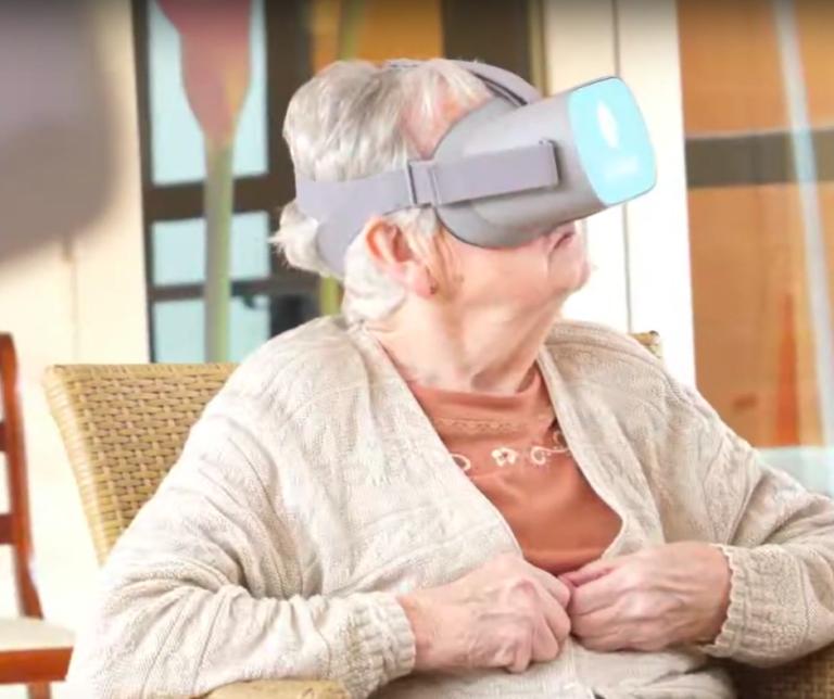 La réalité virtuelle, exemple de dispositif numérique en EHPAD